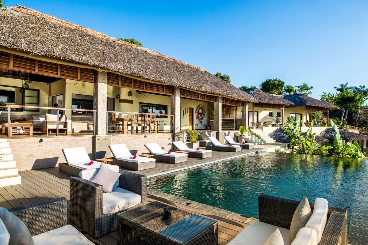 hôtel luxe avec piscine à nosy be