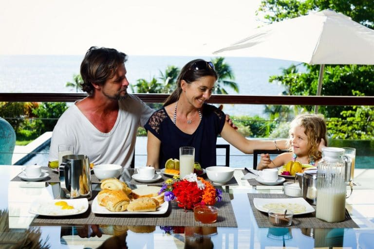 Luxury villa breakfast at nosy be