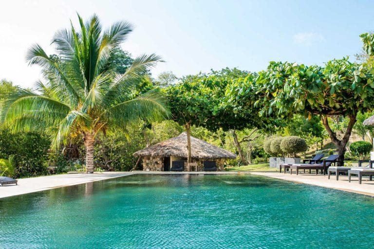 Il ristorante della piscina ospita la residenza di Nosy Be